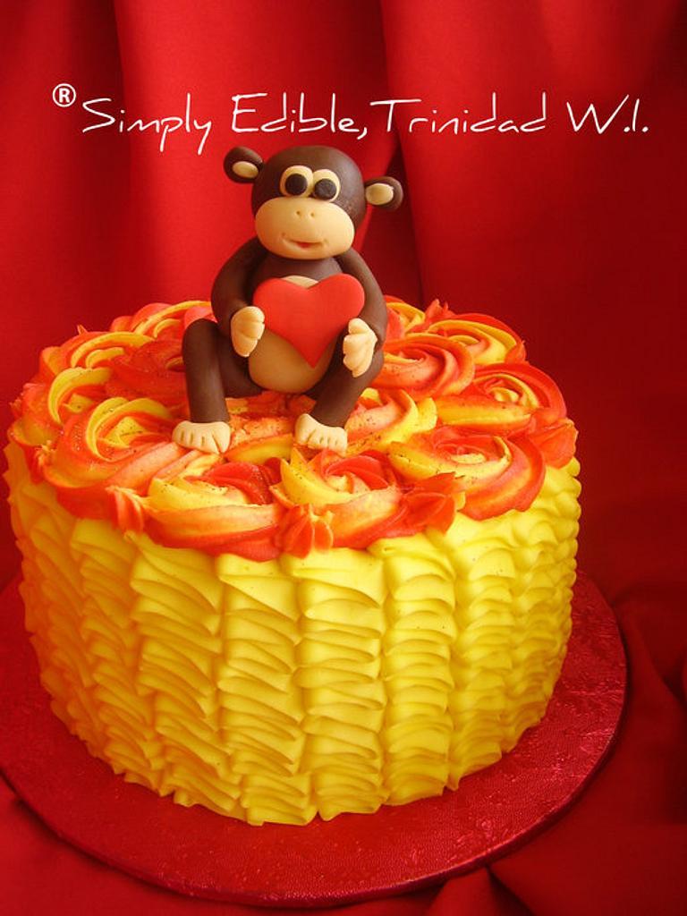 Monkey Love Cake by Shelly-Anne