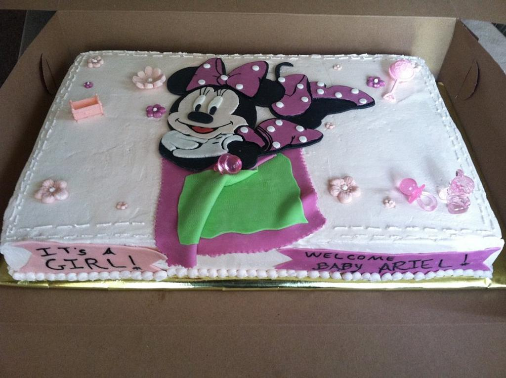 Minnie Mouse Baby Shower Cake by Michelle Allen