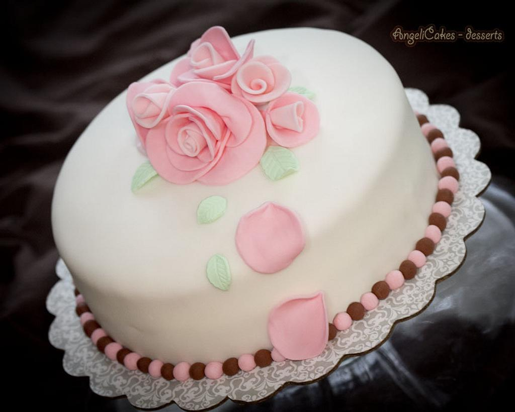 Rose Cake by Angelica Galindo