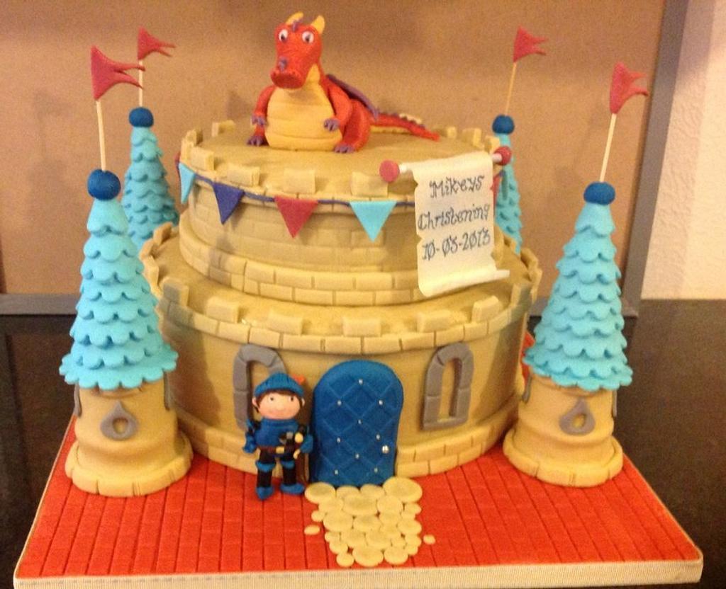 Mike the Knight christening cake by thetreatemporium