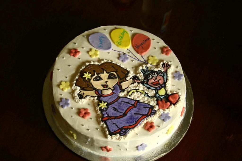 Dora the Explorer by Smita Maitra (New Delhi Cake Company)