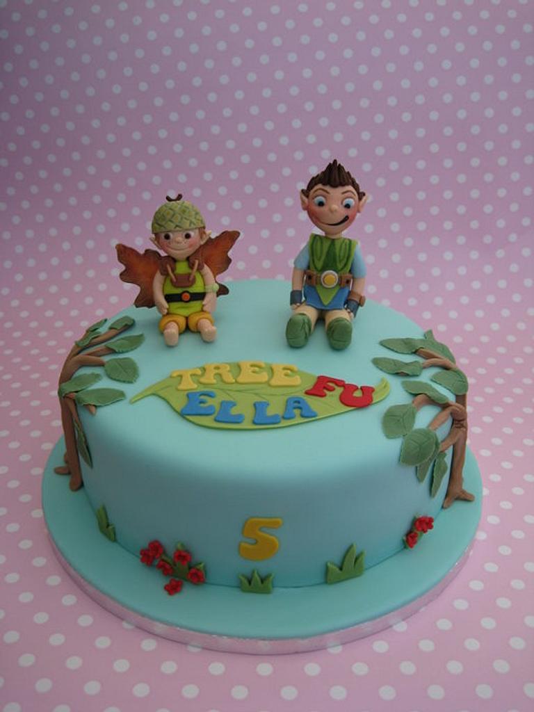Tree Fu Tom cake by Deborah Cubbon (the4manxies)