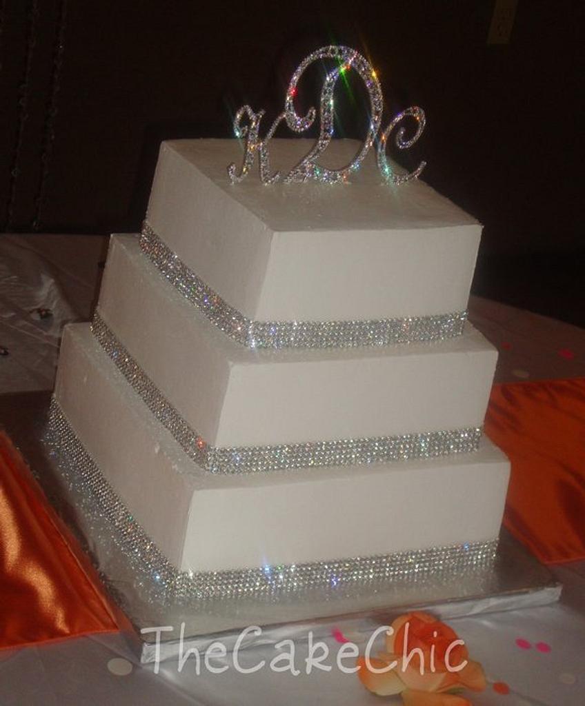 Bling Wedding Cake by Misty