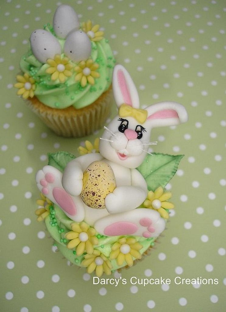 Easter Bunny Cupcake by DarcysCupcakes