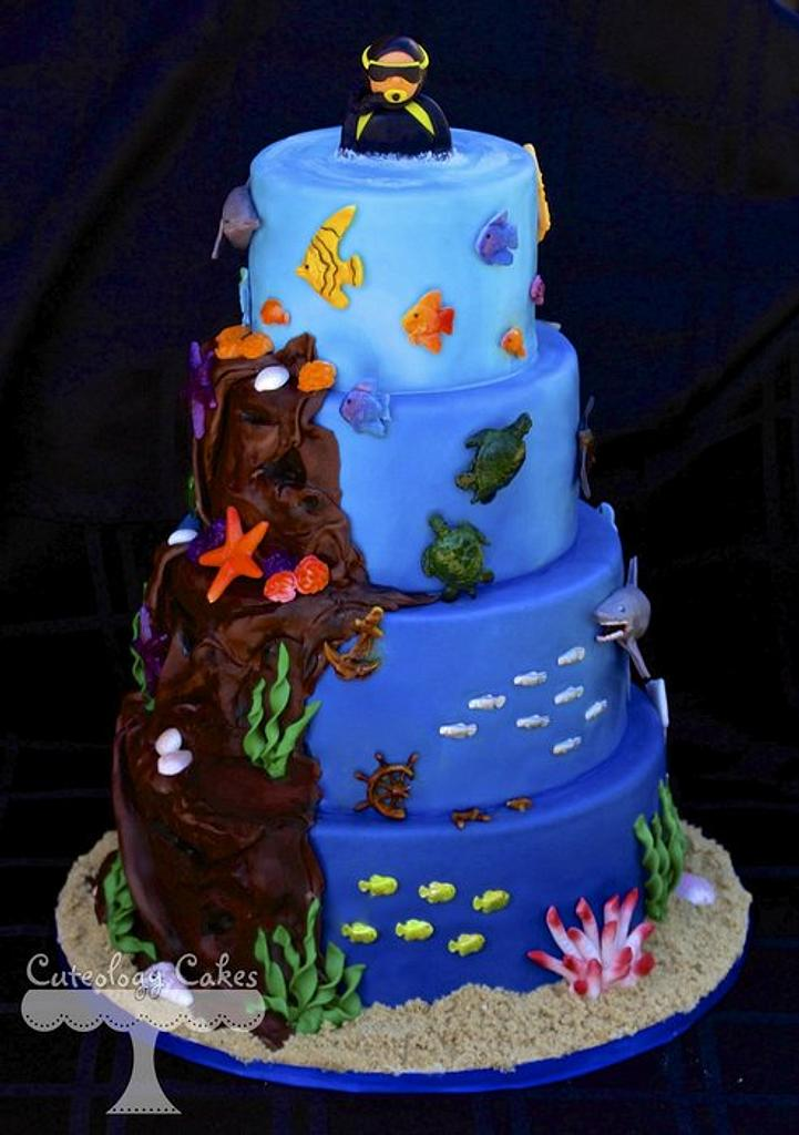 Layers of the Ocean by Cuteology Cakes