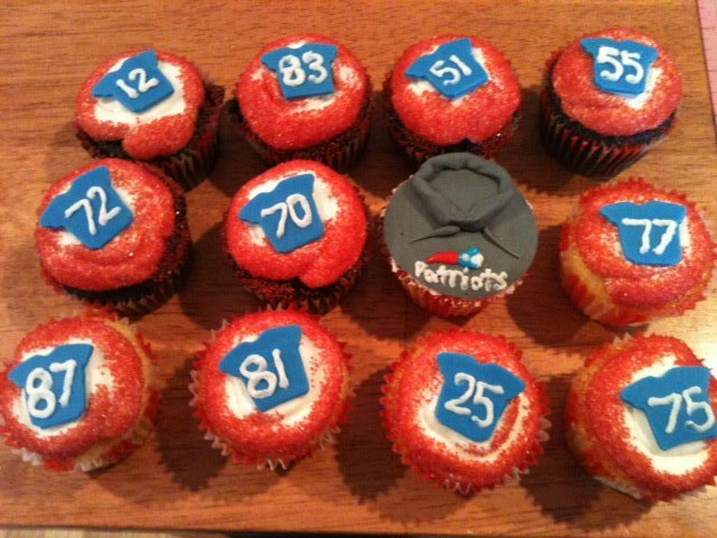 Belichick and the boys cupcake style  by michelle
