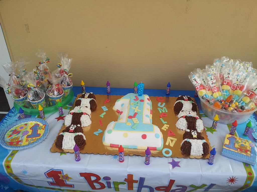 my son's first birthday cake by Taima