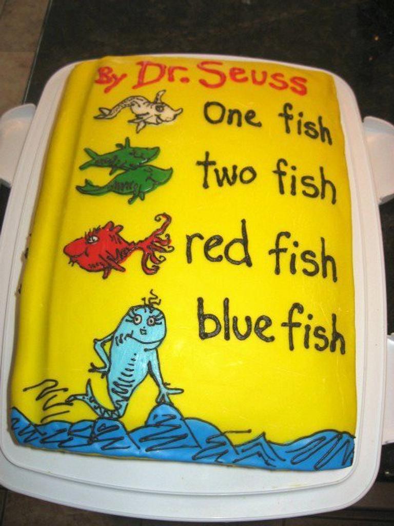 Dr. Seuss Baby Shower Cake by cakesbymary