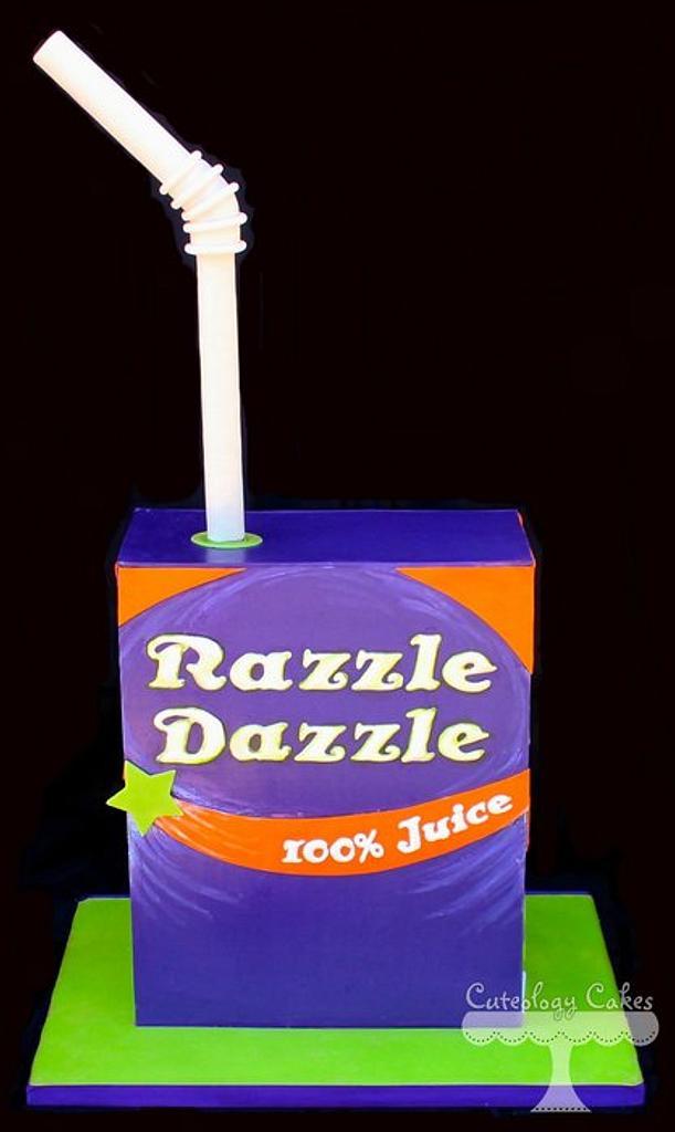 Juice Box Cake  by Cuteology Cakes