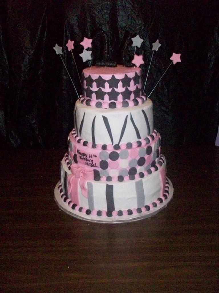 sweet 16 birthday cake by haileysmommy