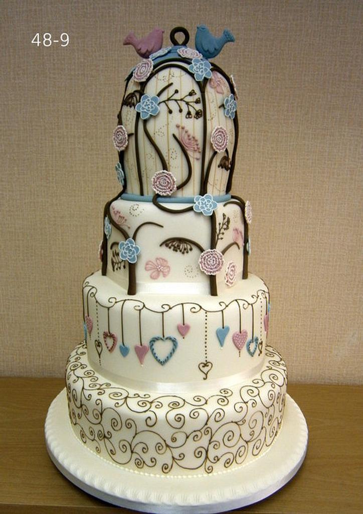 Birdcage inspired wedding cake by Annette