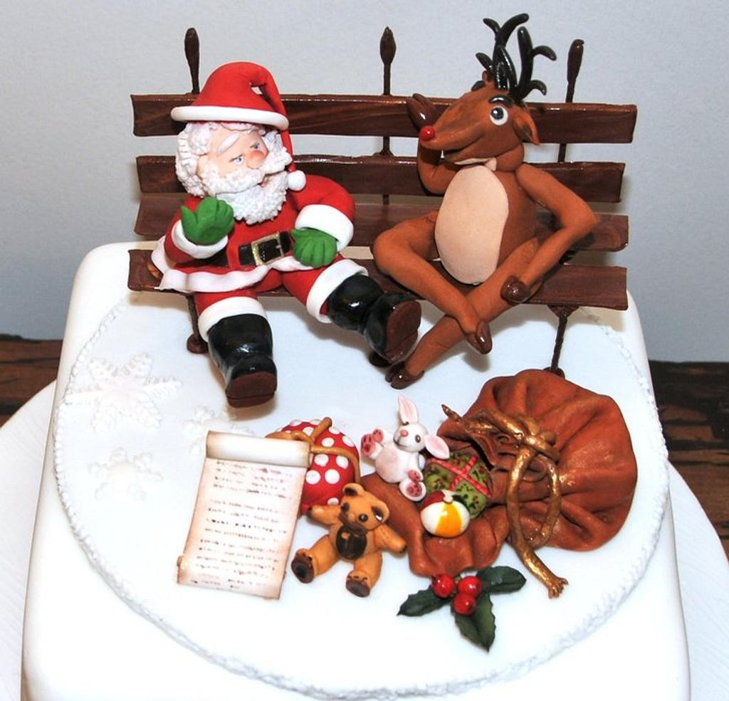 Santa & Rudolph chilling out by Calli Creations