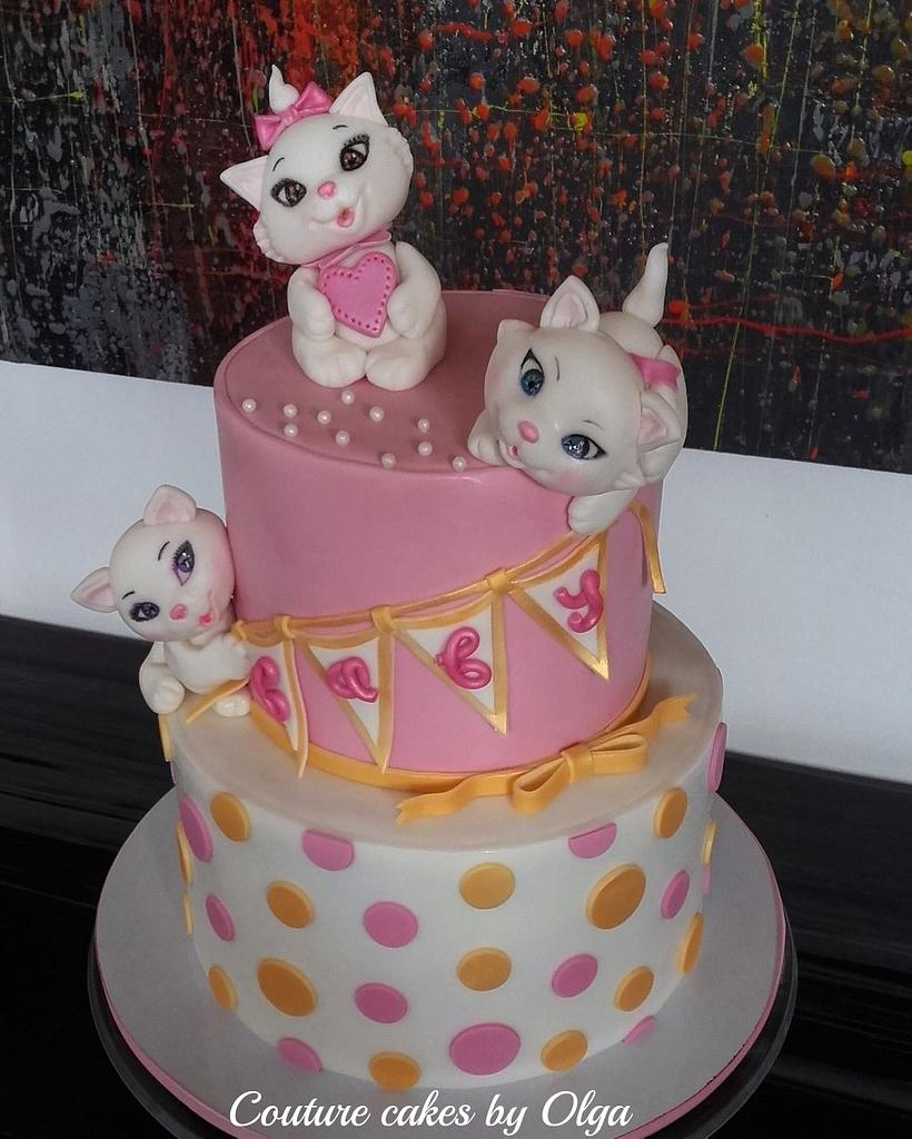 Kittens baby shower cake by Couture cakes by Olga