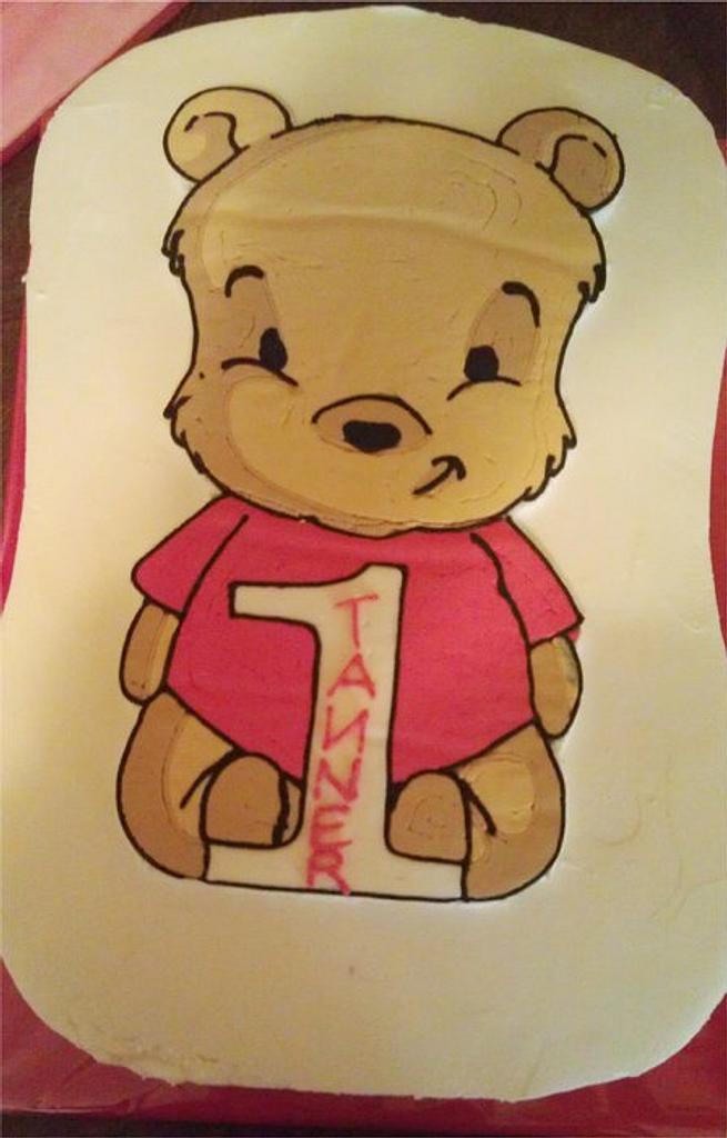 Baby Pooh Bear by Misty Moody