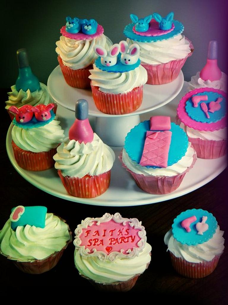 Spa Party, Sleep Over Theme Cupcakes by BellaCakes & Confections