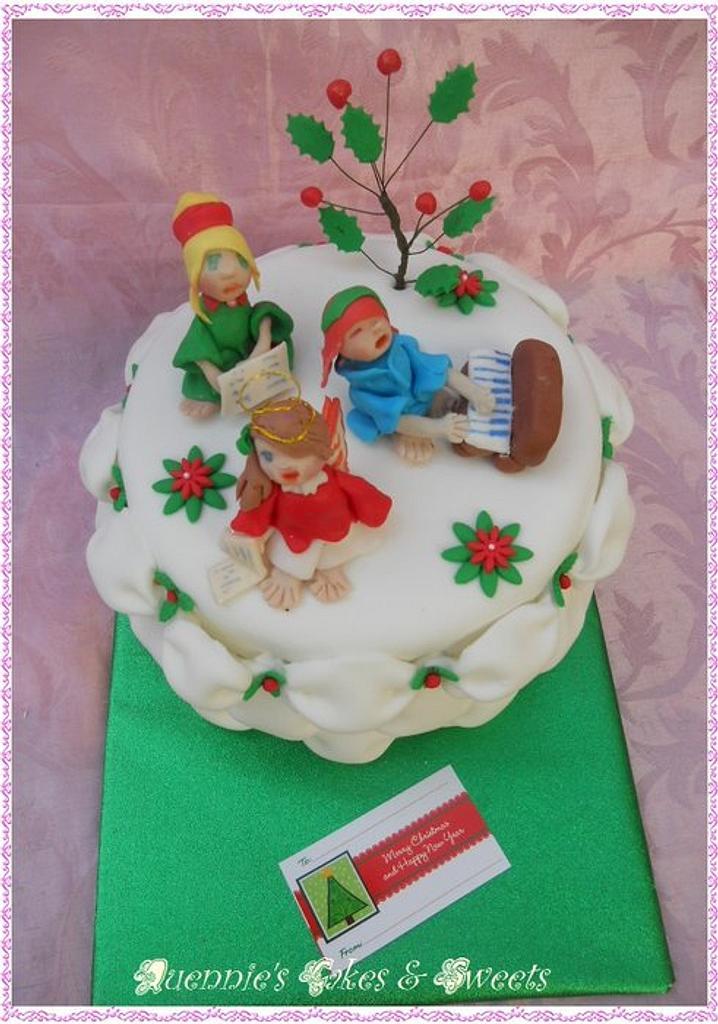 Christmas Choir Cake by quennie