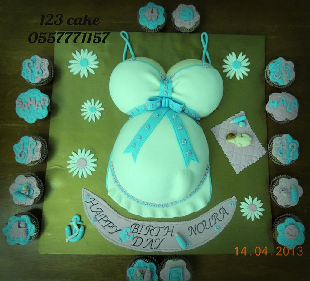 belly pregnant cake  by Hiyam Smady