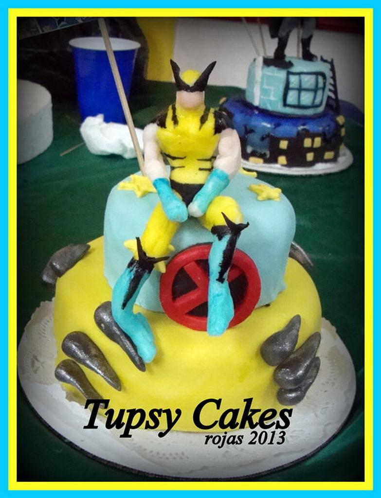 wolveryne mini cake by tupsy cakes