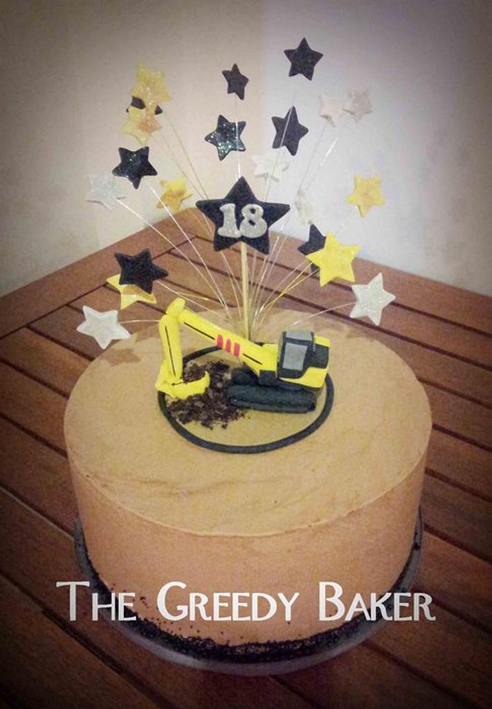 Excavator Cake! by Kate