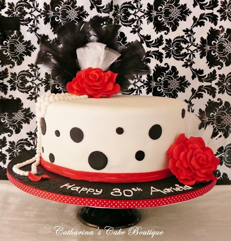 1920's inspired cake/polka dot by Catharinascakes