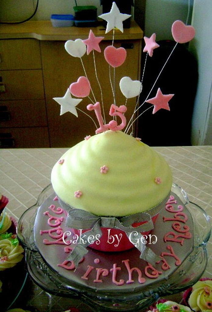 Fondant Giant Cupcake by Gen