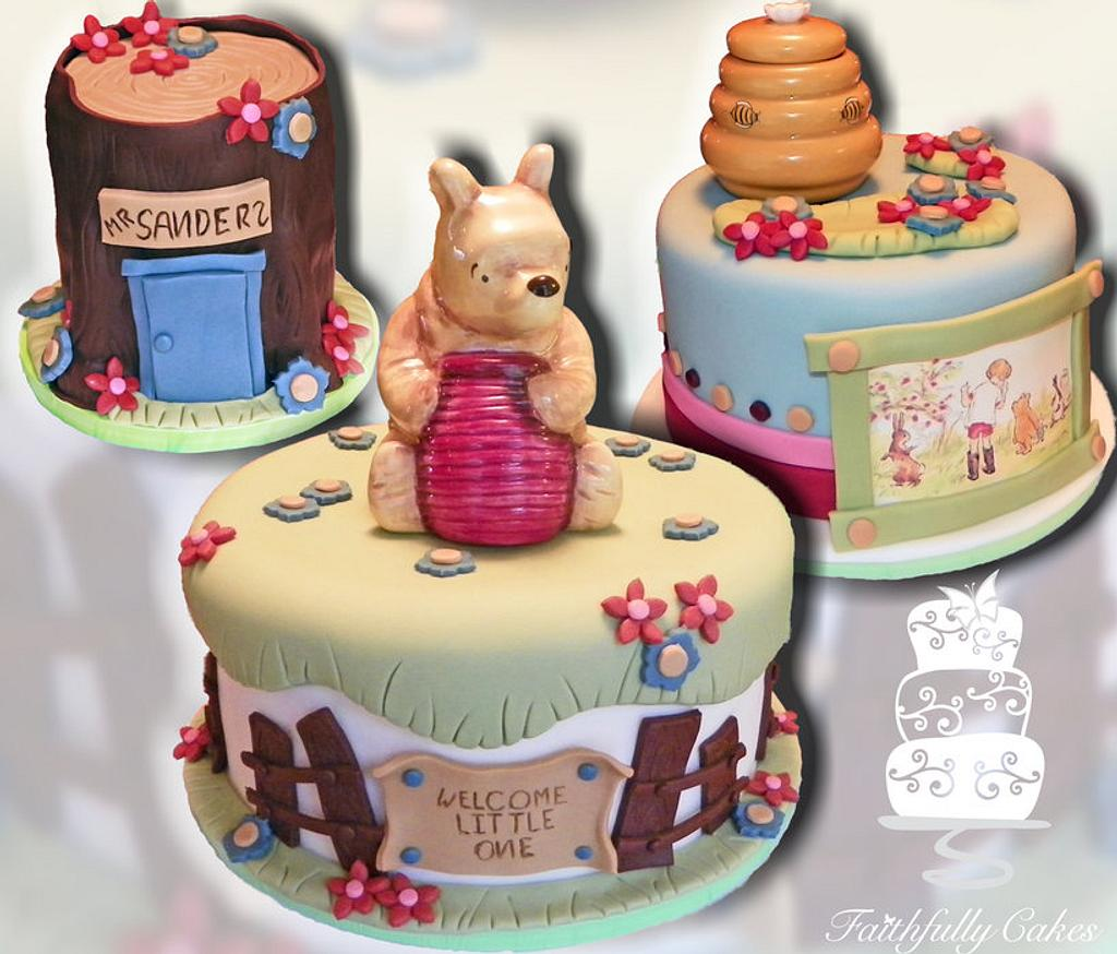 Classic Pooh Baby Shower by FaithfullyCakes