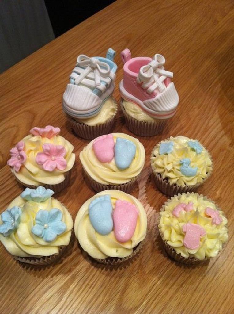 Baby Shower Cupcakes by Sarah Al-Masrey