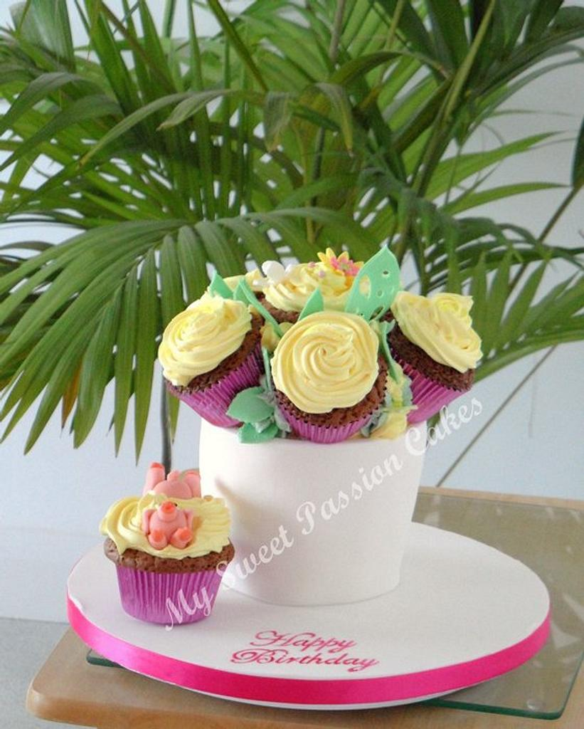 Plant pot with flowers by Beata Khoo