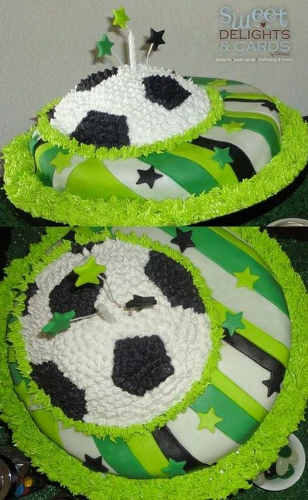 Soccer Theme Cake! by Deborah22