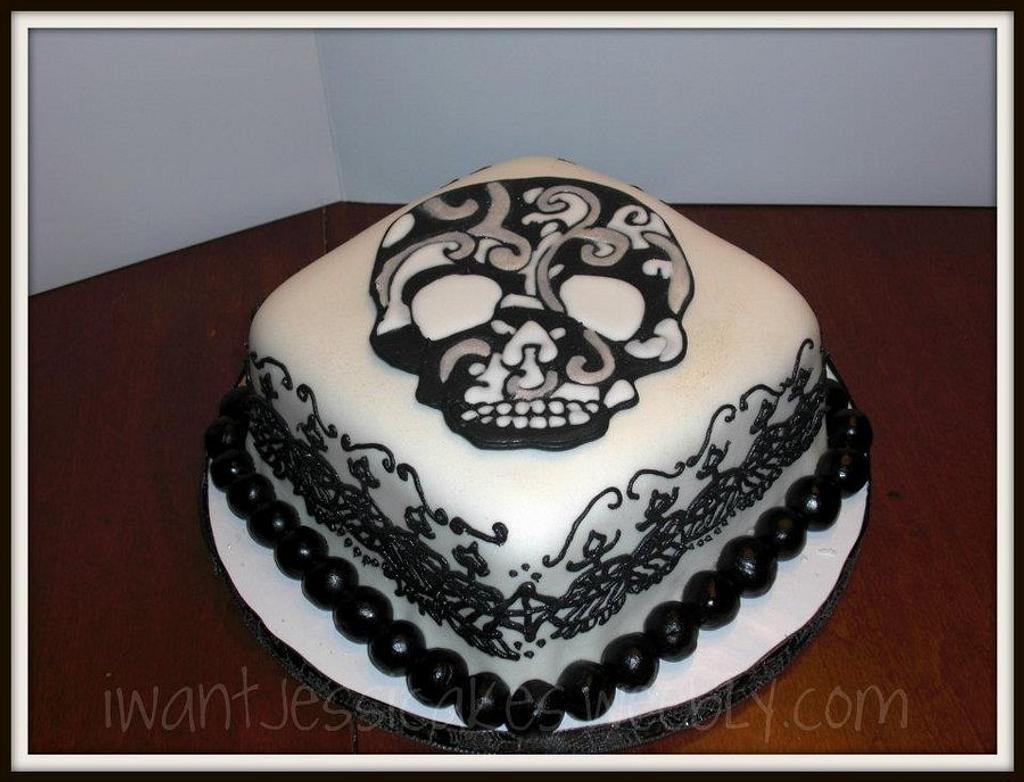 dia de los muertos cake by Jessica Chase Avila