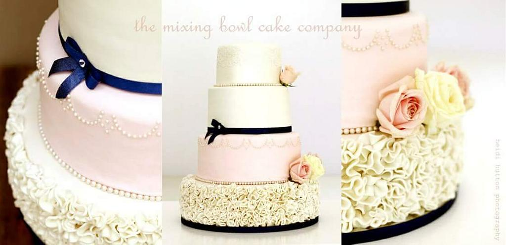 Blush pink & Navy by The Mixing Bowl Cake Company