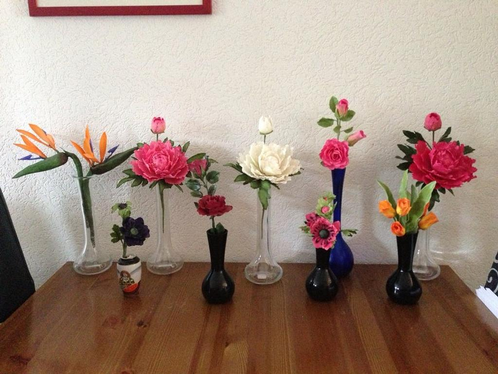 All pretty flowers in  row by Carrie68