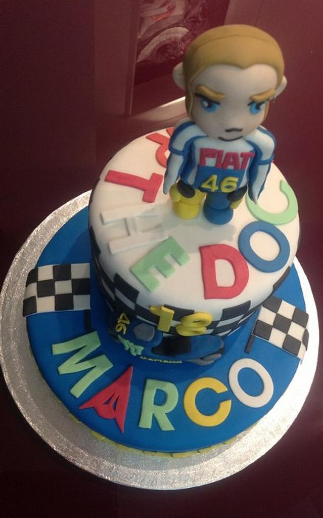 Moto gp Valentino Rossi cake by Sarah Kay Sugar