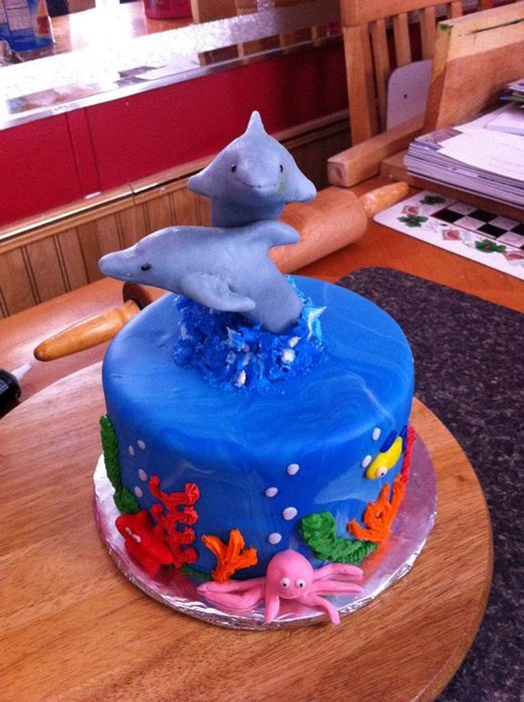Dolphin cake by Melissa Cook