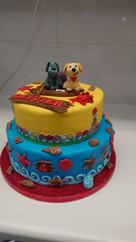 Doggie cake by Stertaarten (Star Cakes)