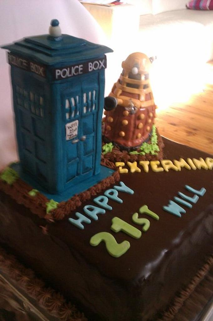 Dr Who 21st mud cake by Cakemummy
