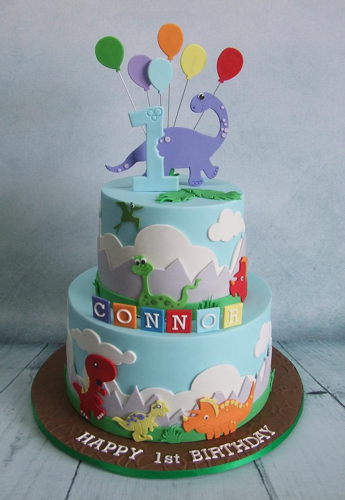 Dinosaur cake by Cake A Chance On Belinda