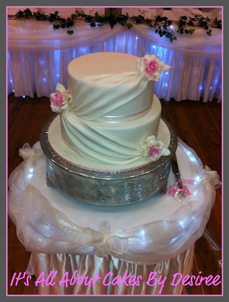 Elegant Draped cake by Desiree