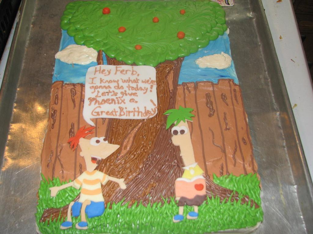 Phineas and Ferb Cake by Erika Lynn Cain