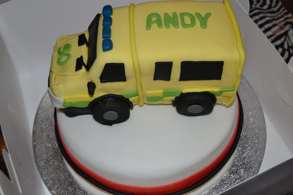 Ambulance cake by Mandy