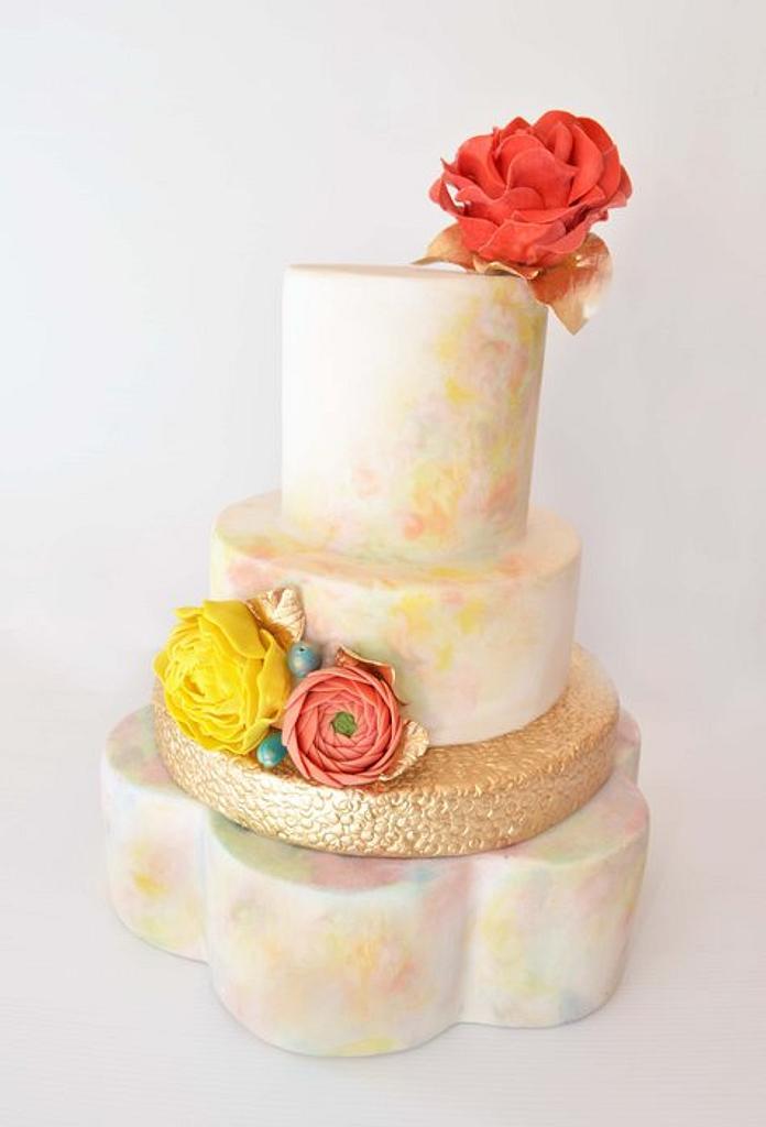 Watercolour Cake by Emma