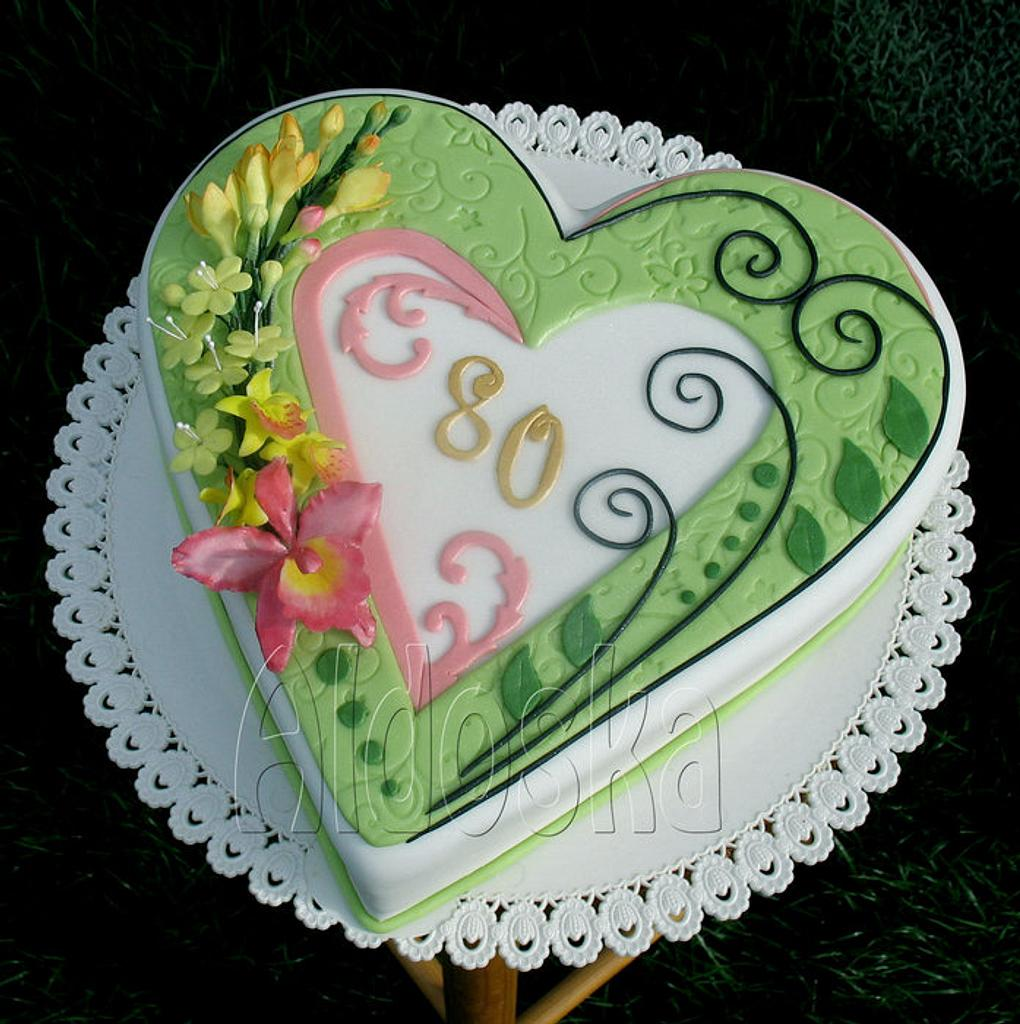 Anniversary cake by Alena