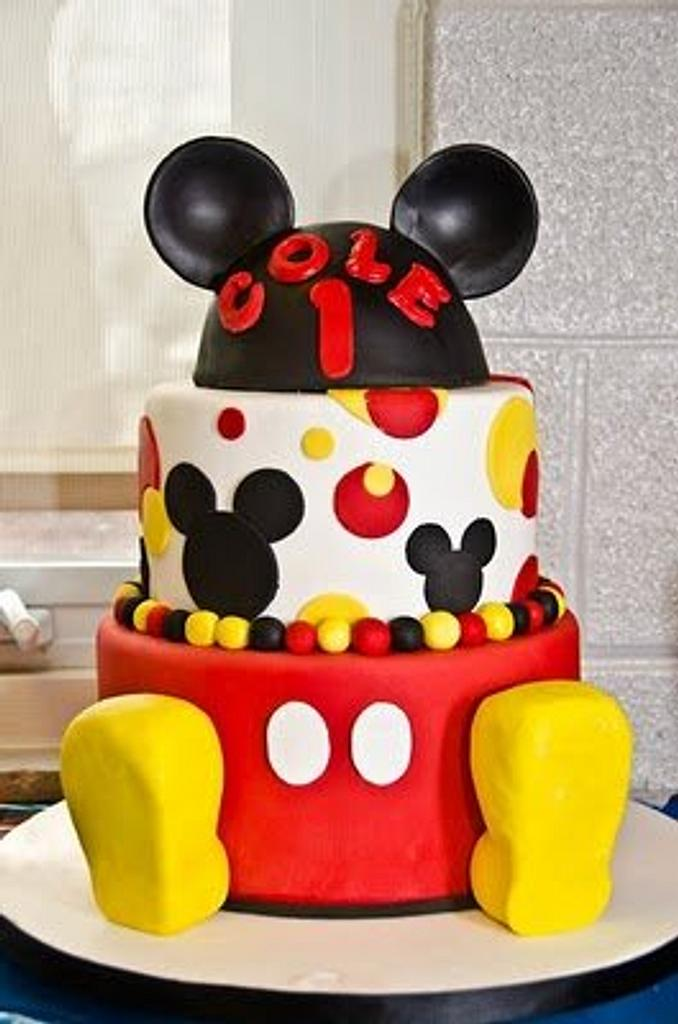 Mickey Mouse First Birthday by SweetEatsCakes