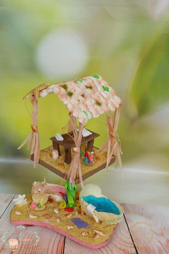 Fantasy Undersea Spa :  Cakerbuddies Miniature  Doll House Collaboration by PralineDesignercakes
