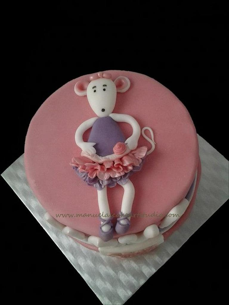 Angelina Ballerina cake by Manuela's Cake Art Studio