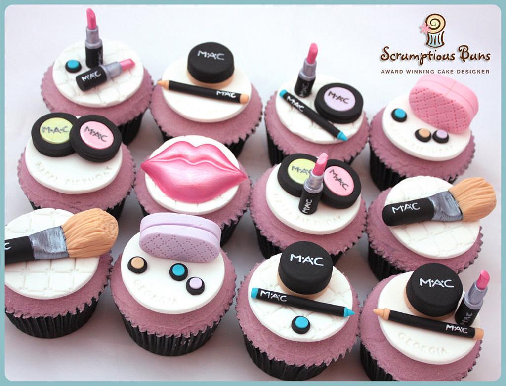 MAC Make Up Cupcakes by Scrumptious Buns