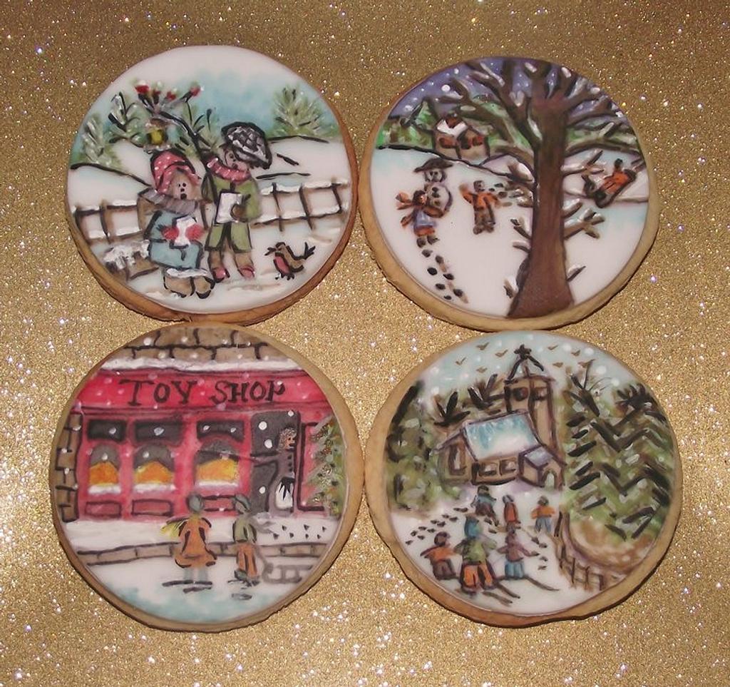 Vintage Handpainted cookies by Jerri