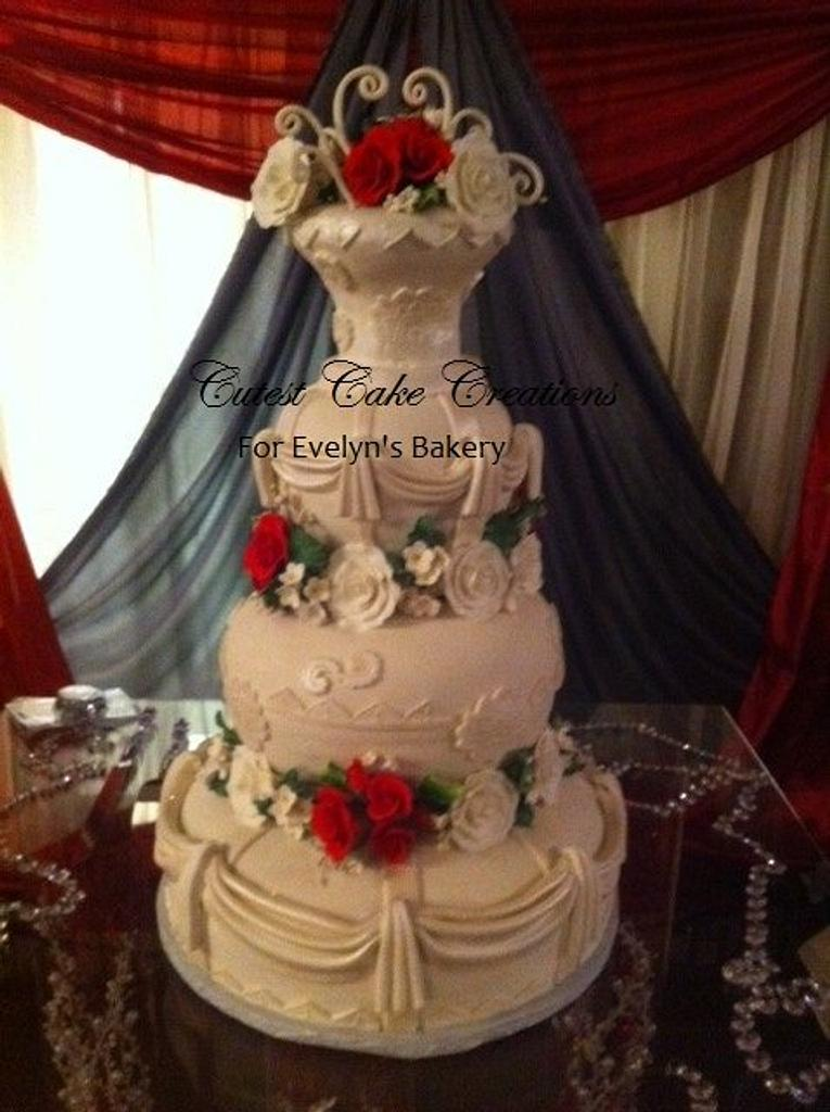 Romantic wedding by Evelyn Vargas