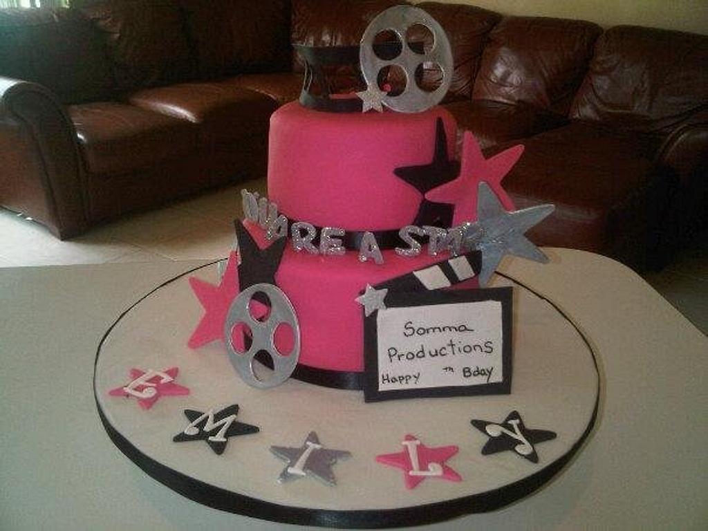 Movie Star Cake by Cindy