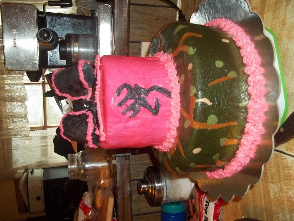 Camo with Pink Bow by Cindy White